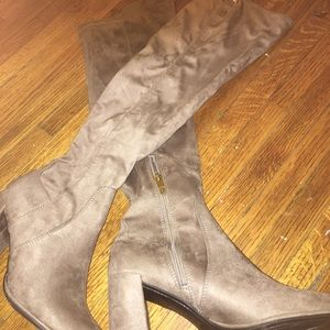 """Liz Claiborne Over the Knee """" Taupe riding boots"""
